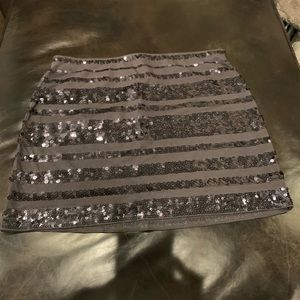 Gray Skirt with Sequins! New with tags!